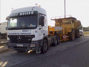 Transportes de carga terrestre nacional - Grúas Molero