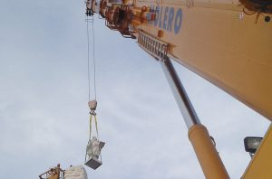 Transporte prefabricados de hormigón - Grúas Molero