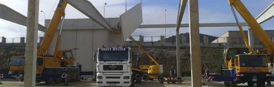 Transporte de piezas de hormigón